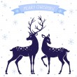 Deer christmas — Stock Vector