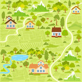 Village map — Stock Vector