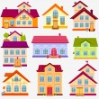 Houses set — Stock Vector