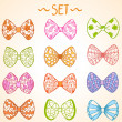 Bow set — Stock Vector