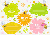 Bees cute — Stock Vector