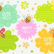 Cute insects — Stock Vector #41256055