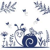 Snail silhouette — Stock Vector