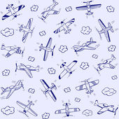 Airplanes pattern — Stock Vector