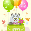 Panda birthday — Stock Vector #46945877