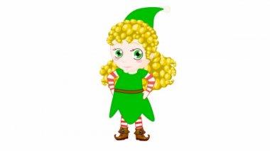 Christmas elf — Stock Video