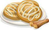 Cinnamon rolls — Stock Vector