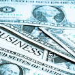 Business word with around a lot dollars — Foto Stock