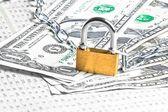 安全性と投資のためのお金. — ストック写真