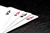 A winning poker hand — Stock Photo
