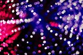 Abstract blue, red and violet circular bokeh background — Stock Photo