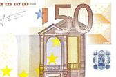One banknote 50 euro — Stockfoto