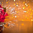 Christmas decoration on golden bokeh background — Stock Photo #37323313