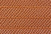 Light brown leather texture with horizontal lines — Stock Photo