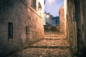 Sassi the historic center of the city Matera in Italy — Stock Photo