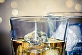 Close-up of whiskey glasses — Stock Photo