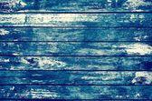 Decrepit grunge blue old wood background — Stock Photo