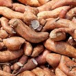 Sweet potato yam carbohydrate background — Stock Photo