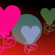 Stock Photo: Bright valentine hearts celebration of love background