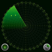 Detailed Illustration of a Radar Screen — Stock Vector
