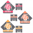 Royalty-Free Stock Vector Image: Vintage Rose Cosmetics Labels Set