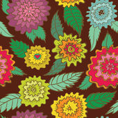 Seamless retro flowers pattern — Stock Vector