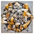 Dirty steel ashtray — Stock Photo #39626243