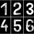 Grungy Numbers 1-6 — Stock Photo