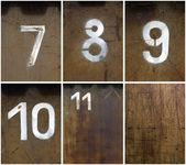 Rusty Numbers — Stock Photo