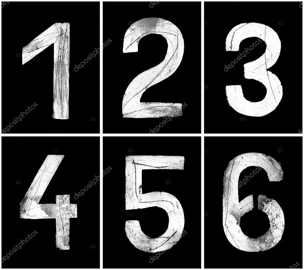 grungy numbers 1 6 stock photo aninka 40624735. Black Bedroom Furniture Sets. Home Design Ideas