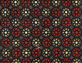 Used vintage wallpaper - Dots — Stock Photo