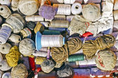 Cotton Thread Balls — Stock Photo
