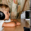 Stock Photo: Child with headphones