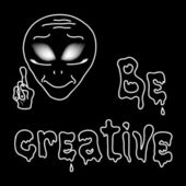 Be creative with alien — Stock Vector