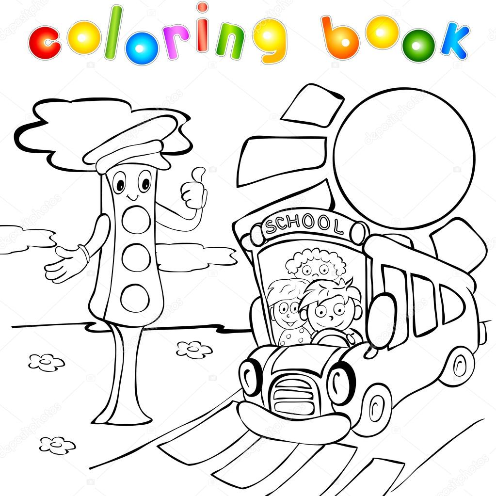 clip art stop light coloring page mycoloring free printable