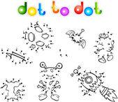 Spase set 1 dot to dot — Stock Vector