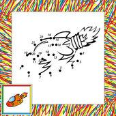 Vektör roket (ikinci) karikatür. nokta nokta — Stok Vektör
