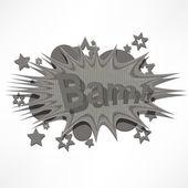Bam. Comic book explosion. — Stock Vector