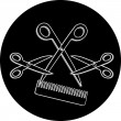 Royalty-Free Stock Vector Image: Haircut or hair salon symbol