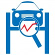 Stock Vector: Automotive diagnostic repair icon.