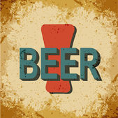 Sign beer in retro style — Stock Vector