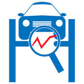 Automotive diagnostic repair icon. — Stock Vector