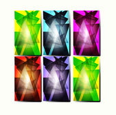 Set of colorful abstract backgrounds. Vector Illustration — Stock Vector