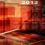 2012 Calendar. abstract — Stock Vector
