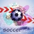 Soccer design background - Stockvektor