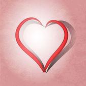 Herzform pinsel gemalt. vektor-hintergrund. — Stockvektor