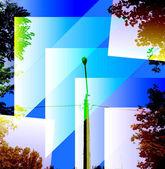 светильники уличные фон — Cтоковый вектор