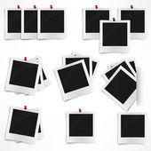 Polaroid foto stomme isolerad på vit bakgrund. vektor illust — Stockvektor