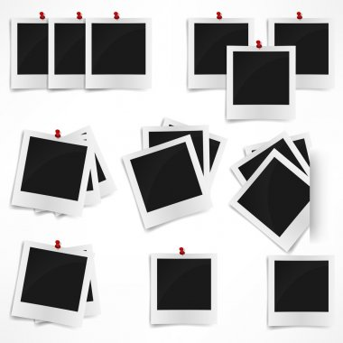 Polaroid photo frame isolated on white background. Vector illust