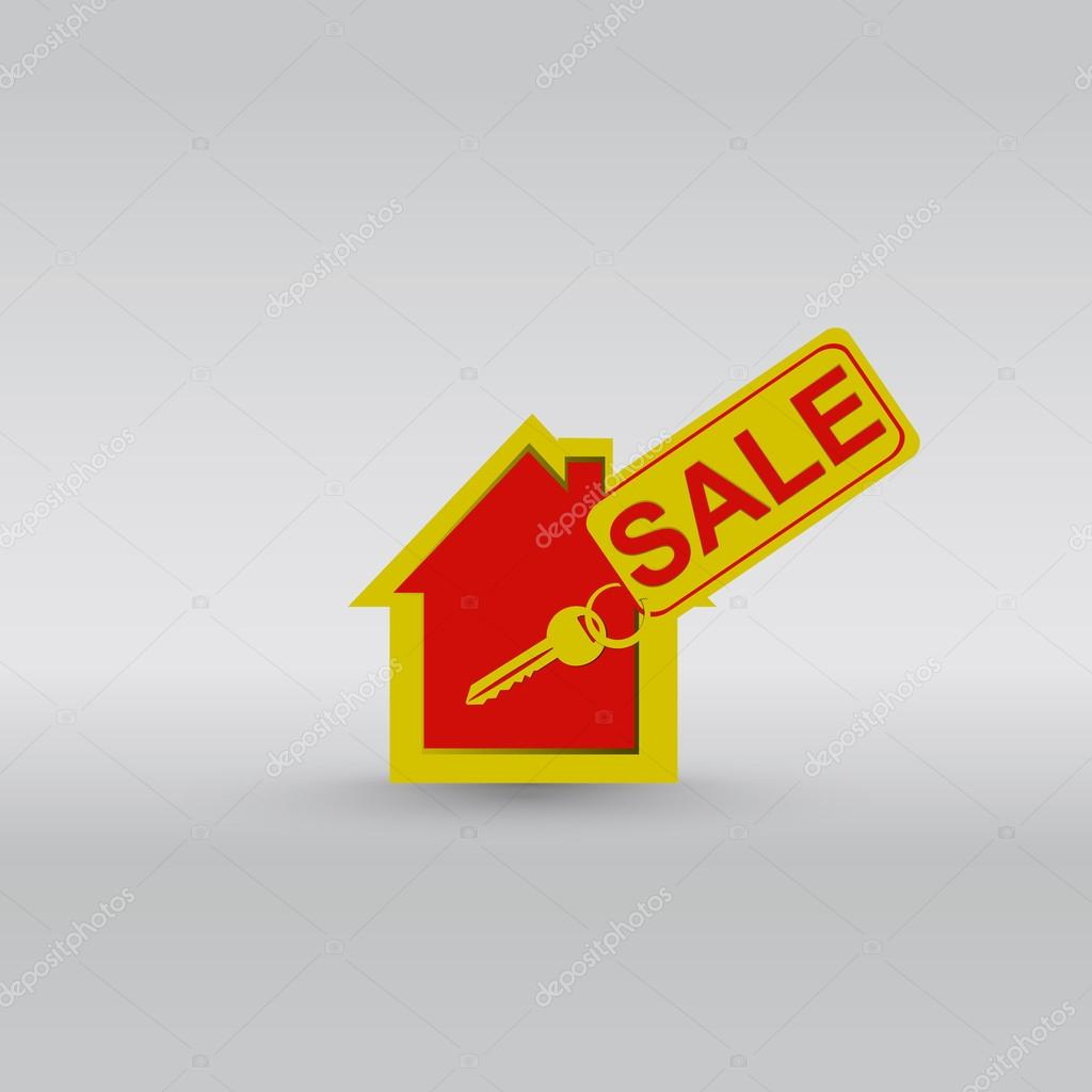 House key ring vector — Stock Vector #14534641